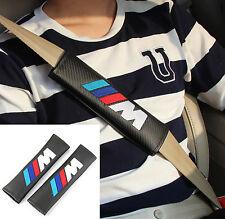 2pcs Carbon Fiber Auto Car Seat Belt Cover Pads Shoulder Cushion fit for M POWER