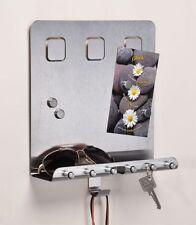 Edelstahl Schlüsselleiste Schlüsselboard Memoboard Schlüsselbrett 6 Schlüssel