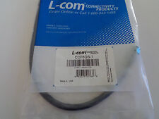 L-COM - RG6 Cable, Type F Male / Male, 1.0 ft  CCF6QS-1 - New in Bag