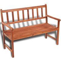 Classic Wooden Bench Acacia Wood Outdoor Seat Chair Patio Furniture Garden Porch