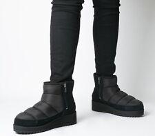BNIB UGG AUSTRALIA WOMEN'S BLACK PUFFER RIDGE MINI FLATFORM BOOTS 7/40 RRP £145
