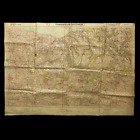 WWII Pte. J. Goodall 1st South Lancashires Captured German D-Day 4 Beachhead Map
