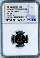 2016 CANADA NGC FIRST RELEASES MS68 BABY GIFT SET-BLUENOSE DIME 10C!