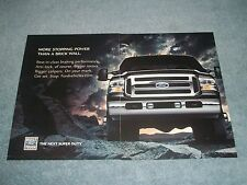 """2005 Ford F-350Super Duty Dually Ad """"More Stopping Power Than A Brick Wall"""""""
