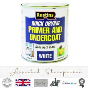 Rustins Primer & Undercoat Wood MDF White Quick Dry Under Coat Paint Base