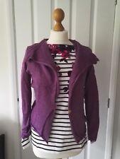 White Stuff Sabine Wool Mix Cardigan with wood button - Purple Haze size 10 UK