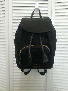 Dooney & Bourke Nylon Black Backpack used very good condition