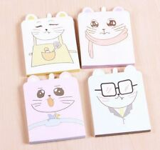 Lot 4pcs Cat Mouse Stationery Notepad Kawaii Cute Memo pads color note novelty