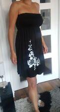 Stunning BLACK/SILVER Summer STRAPLESS  dress/top PLUS SIZE UK 22/24  XXL