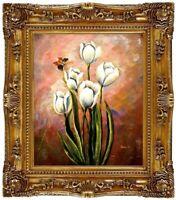 Ölbild Blumen Gemälde Blumenmotive Blumenmalerei ÖLGEMÄLDE HANDGEMALT 50x60cm