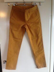 BNWOT Genuine Prada Mens Chino Pants Trousers Yellow Mustard