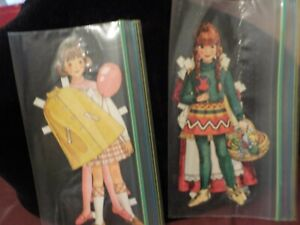 VINTAGE BETSY MCCALL ? PAPER DOLLS CUT OUT OF MAGAZINE- 2 GIRLS-balloon, basket