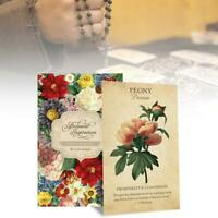 Botanical Inspiration Oracle Karten Familienfeiertag Party Spielkarten Englisch