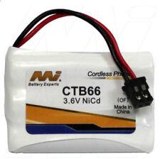 MI CTB66 3.6V NiCd Cordless Phone Battery KX-TC1220,P-P102P,P-P102T,N4HKGJB00001