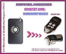 Homentry he4331 compatible mano transmisor, mando a distancia de repuesto 433,92mhz