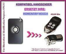 HOMENTRY HE4331 kompatibel handsender, ersatz fernbedienung 433,92Mhz