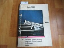 1989 1990 Saab 9000 Electrical System, Diagrams Operation Fault Service Manual