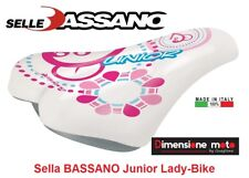 "7010 - Sella ""BASSANO"" Junior Bianco-Rosa per Bici Bambina 12-14-16-20 City Bike"