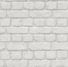 Light Grey Brick Wall Effect Wallpaper - Rasch 226713 - Room Decor