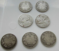 Canada  25 Cents  1909 1910 1912 1916 1919 1938 1948 Lot 7 Coin Quarter Silver