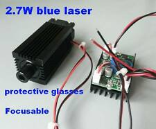 Focusable 2500mw 445nm Blue Laser Module Cnc engraving wood cutting 12V input