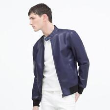 Men's Faux Leather Waist Length Bomber, Harrington Coats & Jackets