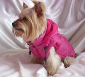 Handmade Small Dog Jacket Coat Clothes Winter Sport Pink Shih Tzu York