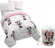 Disney Minnie Mouse 5 Piece Twin Bedding Set ( Tote Bag Included ) Brand New