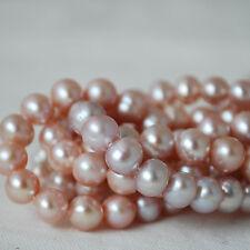 """15"""" Naturelle d'Eau Douce Perles Rondes Violet 8 mm - 9 mm Grade AB"""