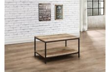 Rustic Industrial Chic Coffee Table Metal Frame Wood Finish