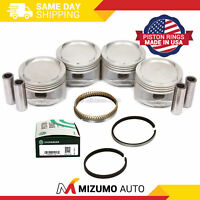 Pistons w/ USA Rings fit 93-97 Toyota Corolla Celica Geo Prizm 1.8 DOHC 7AFE