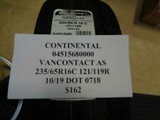 1 NEW CONTINENTAL VACONTACT AS 235 65 16C 121/119R TIRE W LABEL 04515680000   Q9