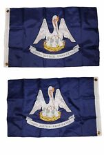 2x3 Embroidered Louisiana 300D Double Sided Nylon Flag 2'x3'