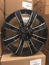4 NEW 24x10 OE Replica Wheels Black Milled Cadillac Escalade GMC Yukon Denali