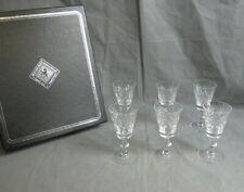 Edinburgh International Crystal Hand Cut Glass Wine Glasses x6 Boxed Glass