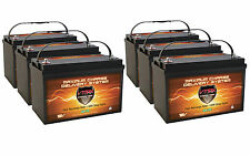 QTY6 VMAX-SLR125 12V 125Ah AGM Solar / Wind Storage Deep Cycle 12 Volt Batteries