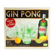 444130 GIN PONG DRINKING GAME INCLUDES 12 PLASTIC CUPS AND 4 PING PONG BALLS