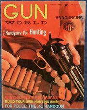 Magazine GUN WORLD August 1963 SAVAGE Model 110 .243 RIFLE, Build Hunting KNIFE