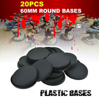 20pcs - 60mm Round Plastic Bases For Warhammer Miniatures Bases Model War Games