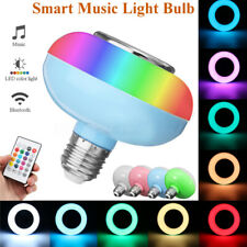 E27 12W RGB LED Bluetooth Wireless Remote Control Music Speaker Light Lamp  G
