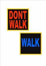 New York Cartello stradale Camminata Non Americano USA Insegna