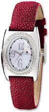 Ladies Charles Hubert Red Stingray 0.75ctw Diamond 29x32mm Watch