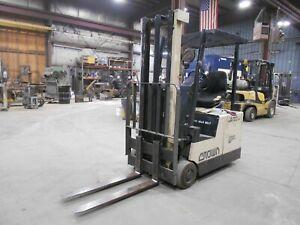 2002 Crown Model 25-SC, 2,500#, 2500# Cushion Tired 36V Electric Forklift