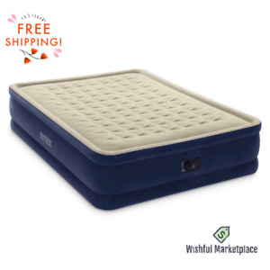 """18"""" Queen Dura-Beam Airbed Mattress Built-In Electric Pump Free Shipping New"""