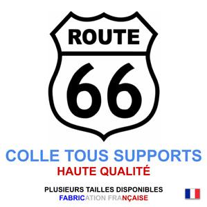 Stickers autocollant Route 66 blanc USA, plusieurs tailles, super prix