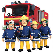 10x Fireman Sam Totally Movable Wall Sticker Decal - Easy Remove / Reuse