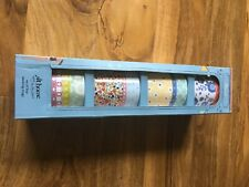 4 mug set Floral patterned packed in packaging In good condition