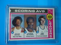1974-75 topps scoring leaders julius erving new york nets nice condition