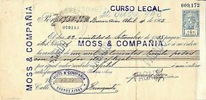 """Argentina postal revenue pagare of """" Ley de sellos"""" 1905 of 4 $ used and perfins"""