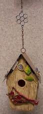 Bird House Cardinal NEW Polyresin and sheet metal